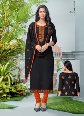 Cotton Black Salwar Suit