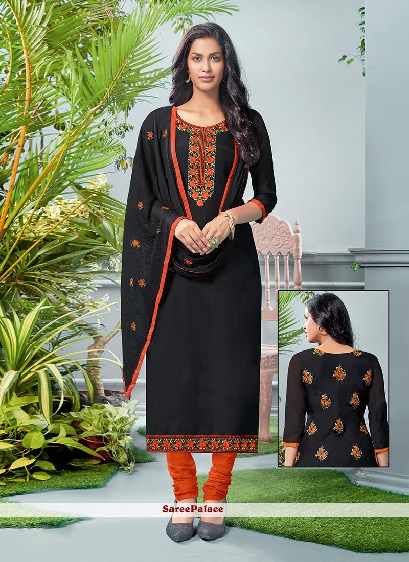 Cotton Black Salwar Suit