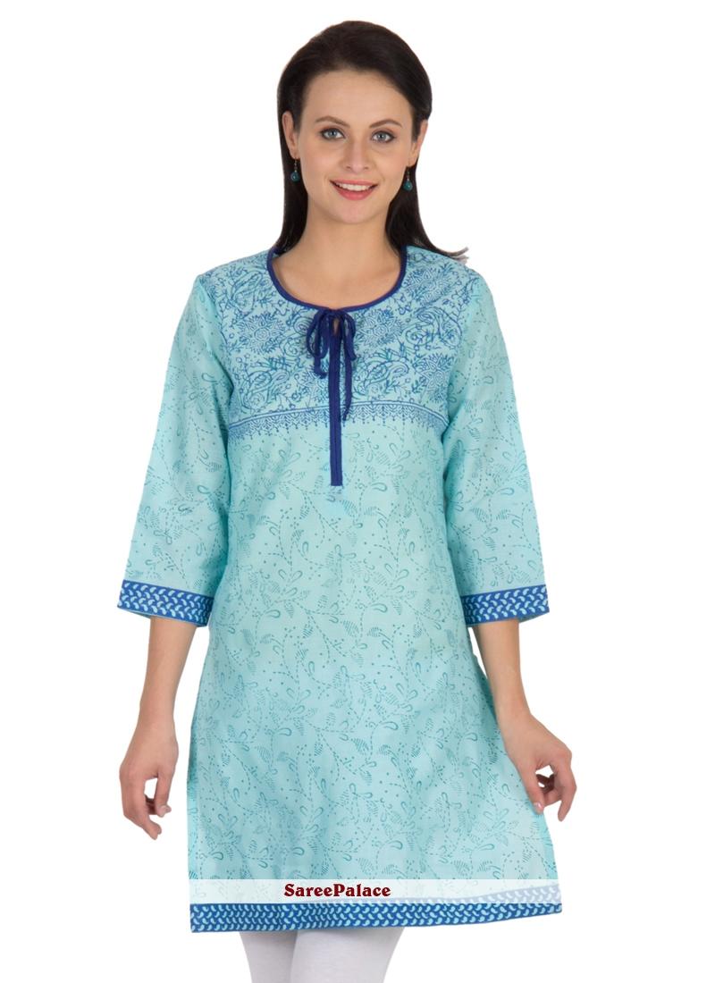 Cotton   Casual Kurti in Blue