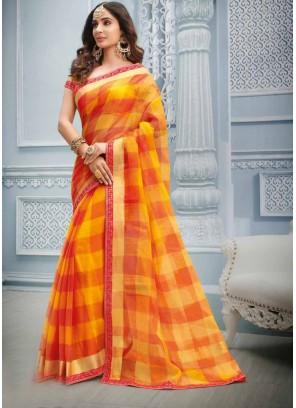 Multi Colour Cotton Casual Saree