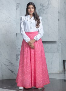 Cotton Designer Lehenga Choli in White