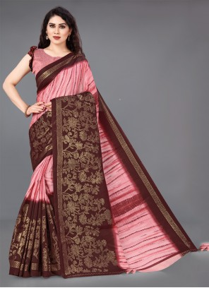 Cotton Designer Saree in Multi Colour