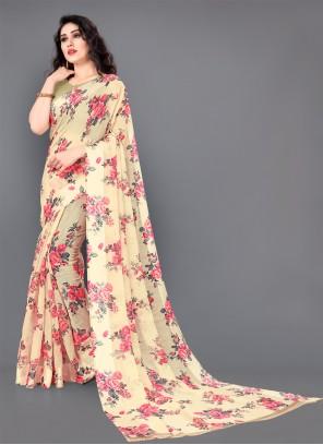 Cotton Designer Saree in Multi Colour