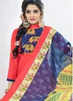 Cotton   Digital Print Work Churidar Suit
