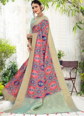 Cotton Festival Multi Colour Contemporary Saree