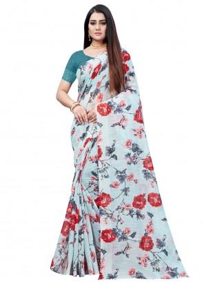 Cotton Festival Multi Colour Printed Saree
