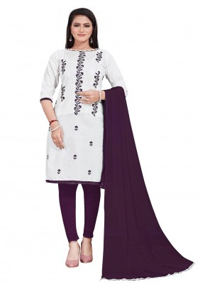 Cotton Embroidered Festival Salwar Suit