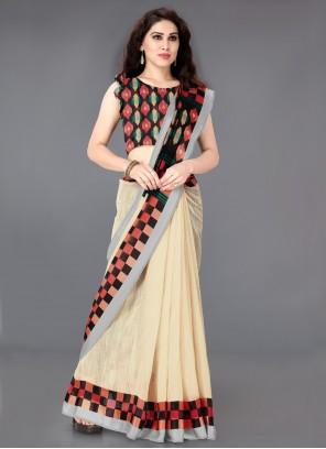 Cotton Festival Multi Colour Trendy Saree