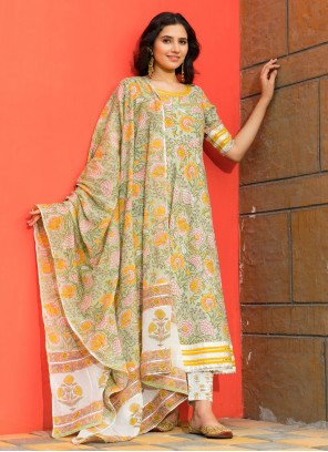 Cotton Green Bollywood Salwar Kameez