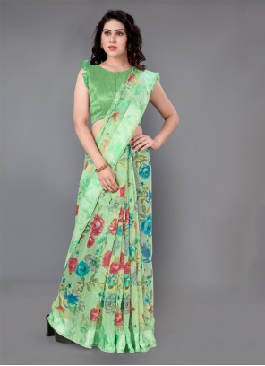 Cotton Green Casual Saree