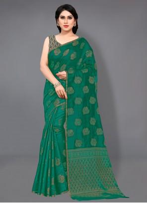 Cotton Green Classic Designer Saree