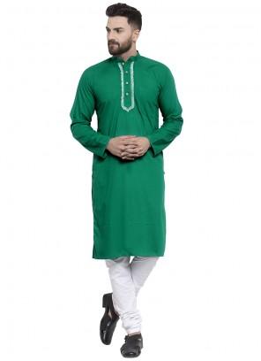 Cotton Green Kurta Pyjama