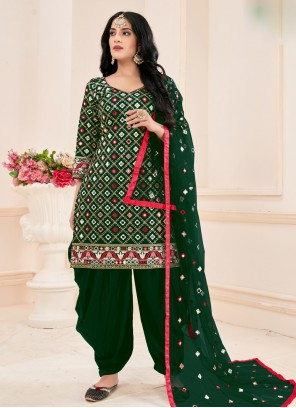 Cotton Green Mirror Salwar Suit