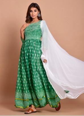 Cotton Green Readymade Designer Gown
