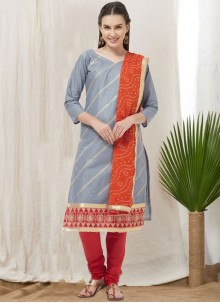 Cotton Grey Churidar Suit