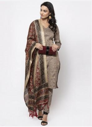 Cotton Grey Trendy Salwar Kameez