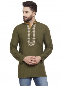 Cotton Kurta in Green