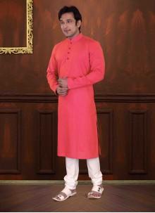 Cotton Kurta Pyjama in Pink