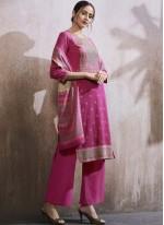 Cotton Lawn Hot Pink Designer Palazzo Suit