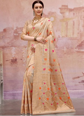 Cotton Mehndi Designer Traditional Saree