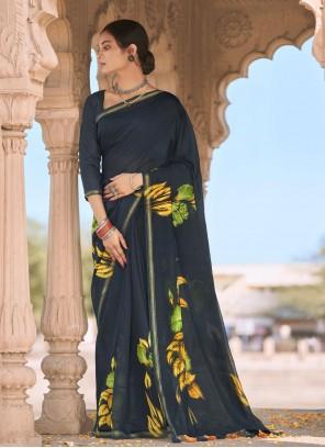 Cotton Multi Colour Abstract Printed Saree