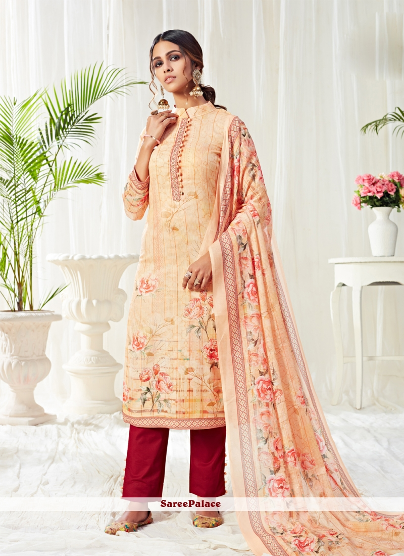 Cotton Multi Colour Digital Print Trendy Salwar Suit