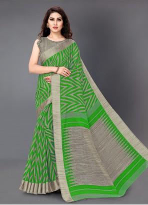 Cotton Multi Colour Printed Casual Saree