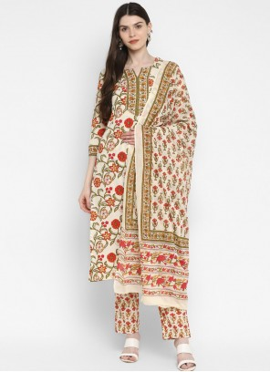 Cotton Multi Colour Printed Readymade Suit
