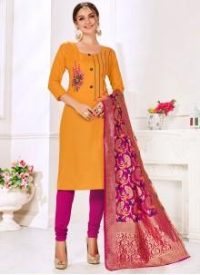 Cotton Mustard Salwar Suit