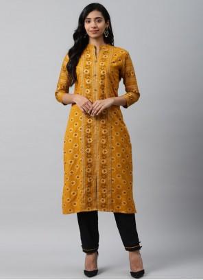 Cotton Mustard Trendy Salwar Suit