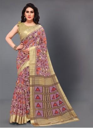Multi Colour Cotton Party Casual Saree