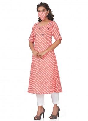 Cotton Pink Fancy Party Wear Kurti