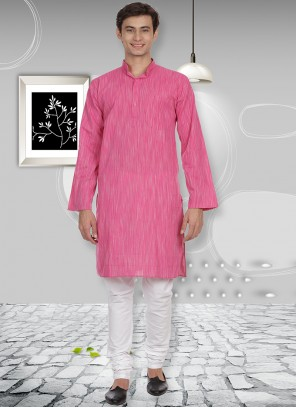 Cotton Pink Kurta Pyjama