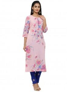 Cotton Pink Salwar Kameez