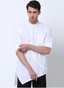 Cotton Plain White Kurta