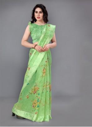 Cotton Printed Casual Saree