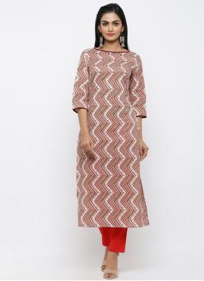 Cotton Printed Multi Colour Salwar Suit