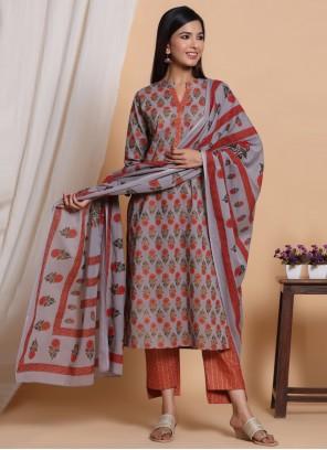 Cotton Readymade Multi Colour Salwar Suit