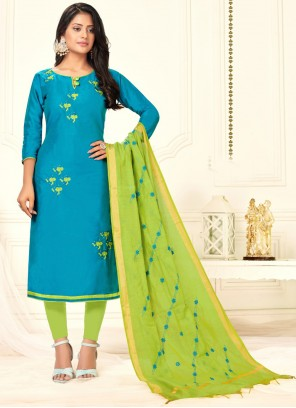 Cotton Salwar Kameez in Blue
