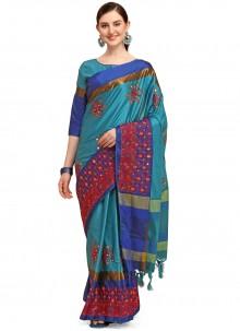 Cotton Silk Blue Traditional Saree
