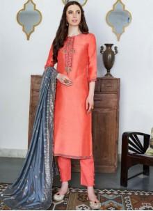 Cotton Silk Designer Pakistani Suit