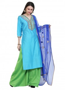 Cotton Silk Embroidered Readymade Salwar Suit