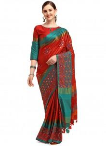 Cotton Silk Festival Traditional Saree