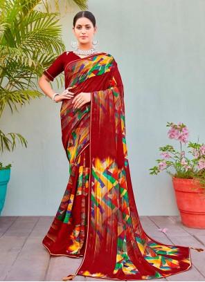 Cotton Silk Multi Colour Printed Saree