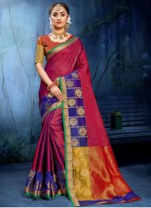 Cotton Silk Multi Colour Weaving Saree