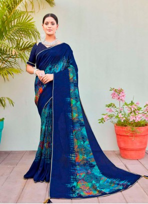 Cotton Silk Multi Colour Party Printed Saree