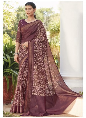 Cotton Silk Saree in Multi Colour
