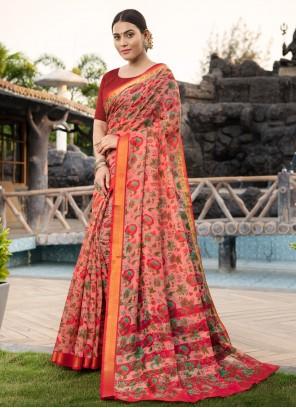 Cotton Silk Multi Colour Traditional Saree