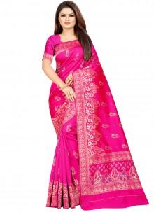 Cotton Silk Weaving Designer Traditional Saree