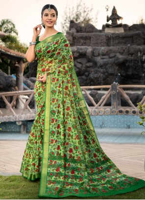 Cotton Silk Weaving Multi Colour Designer Saree